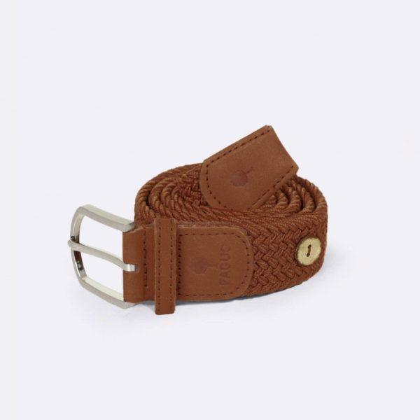 belt-ceinture-en-toile-marron