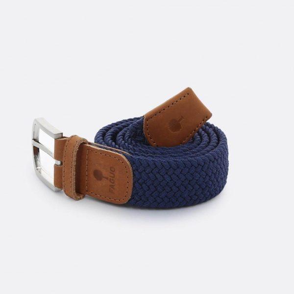ceinture-tressee-en-polyester-belt-marine