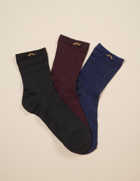 socks noir bordeaux bleu 3