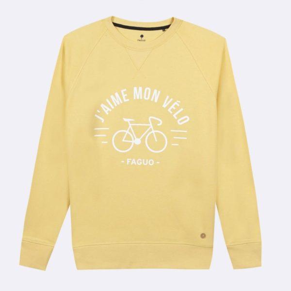 darney-sweat-col-rond-en-coton-recycle-j-aime-mon-velo-jaune-clair