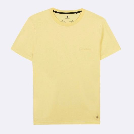 arcy-t-shirt-col-rond-en-coton-recycle-cocotier-jaune-clair