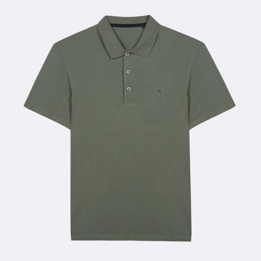lumigny-polo-col-officier-en-coton-recycle-vert-clair