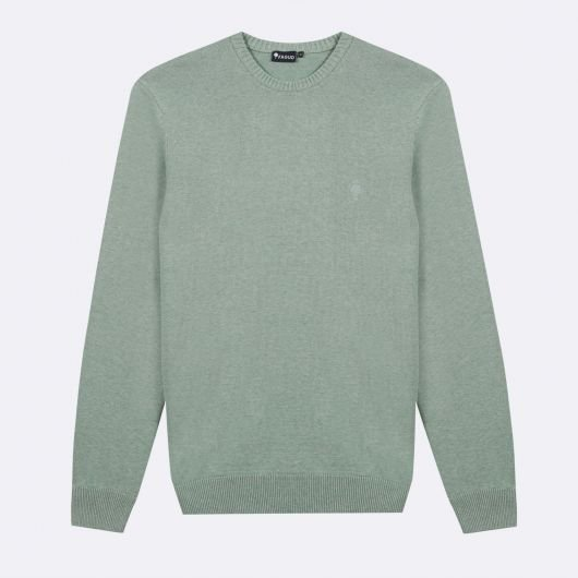 marly-pull-col-rond-en-coton-vert-clair