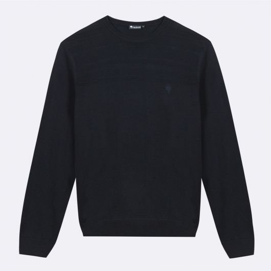 nicey-pull-col-rond-en-coton-recycle-marine