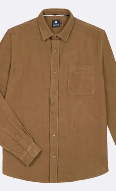 chemise velour camel 1