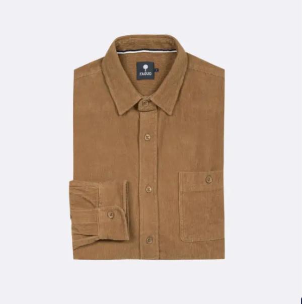 chemise velour camel 2