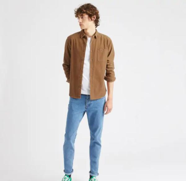 chemise velour camel 3