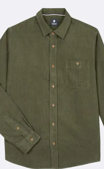 chemise velour vert 1