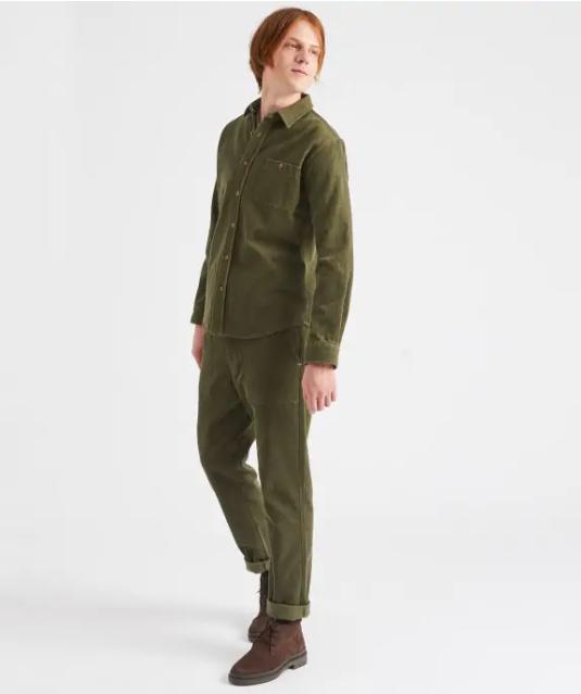 chemise velour vert 2